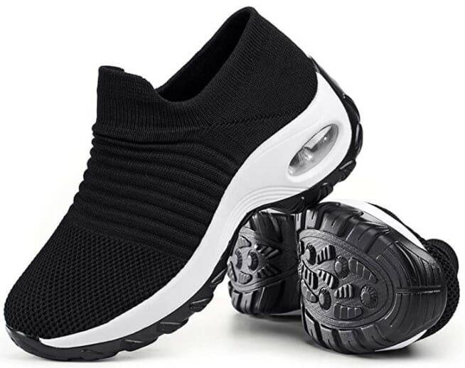 Women's Walking Shoes Sock Sneakers - Mesh Slip On Air Cushion