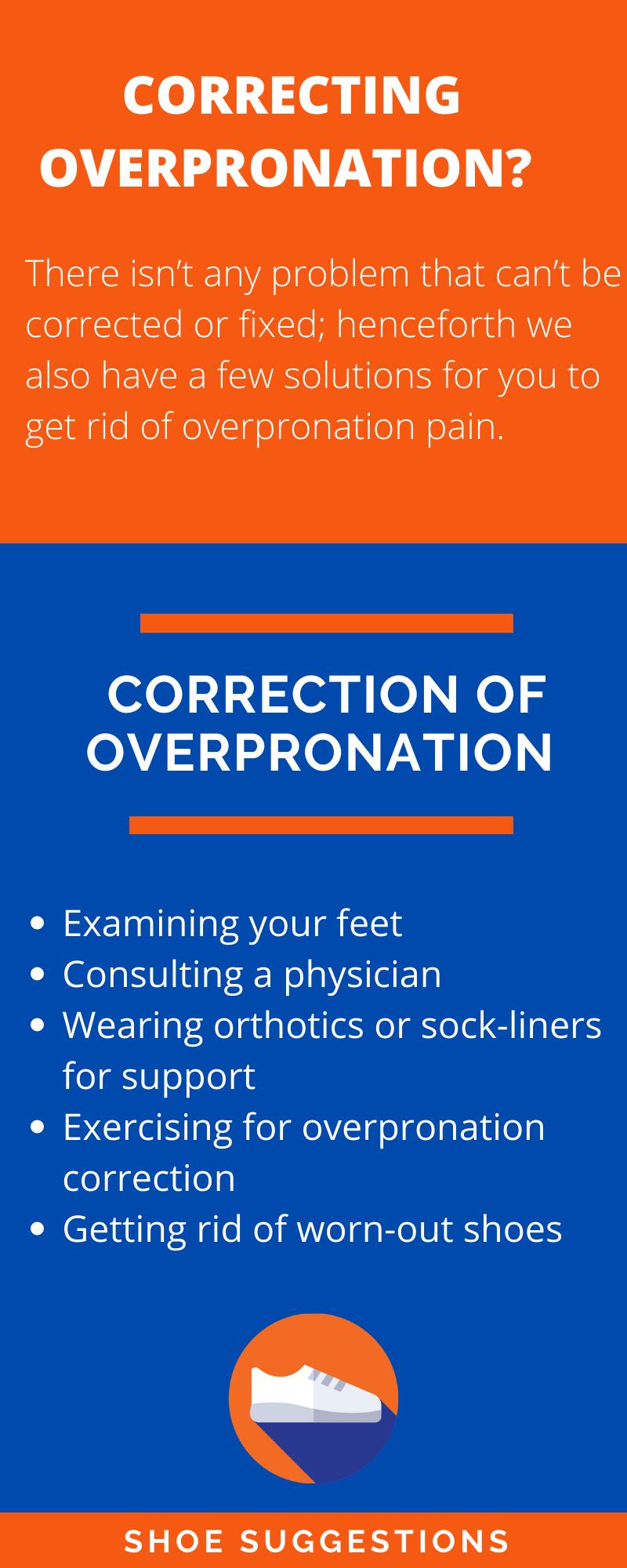 Correcting overpronation