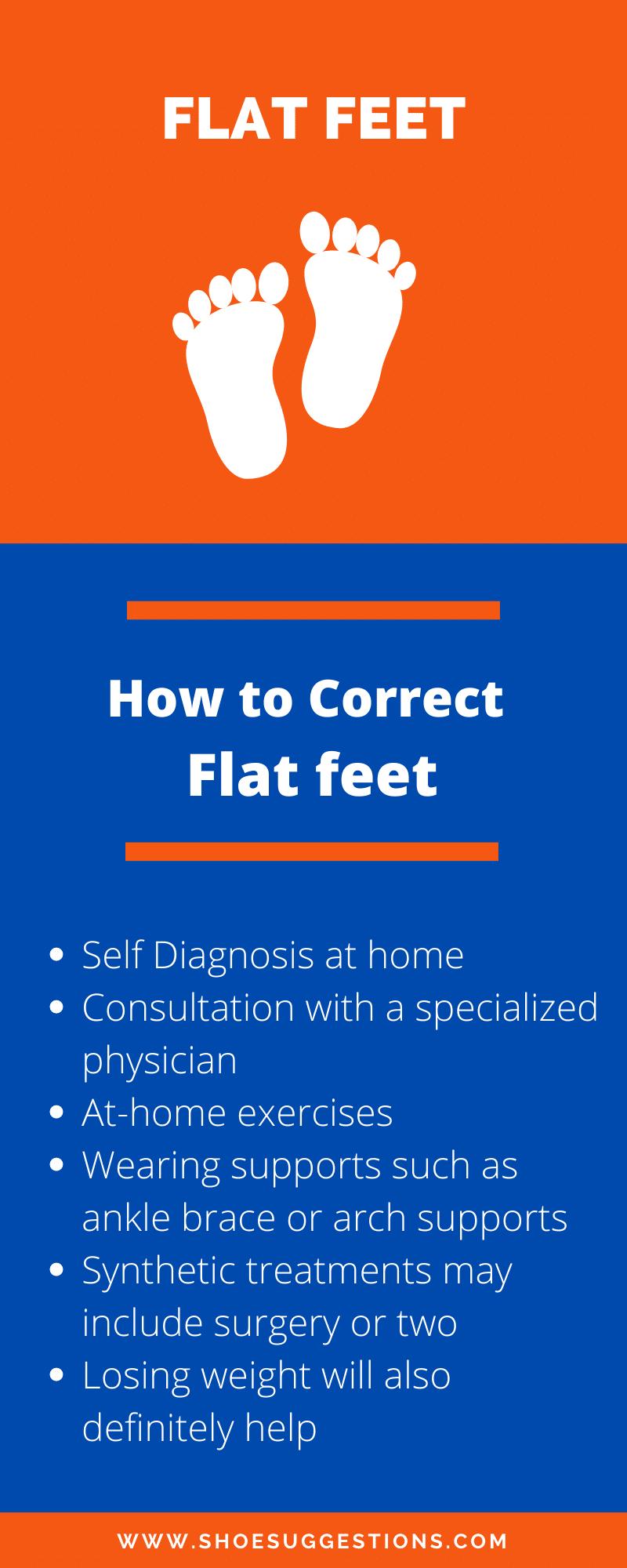 How to correct flat feet