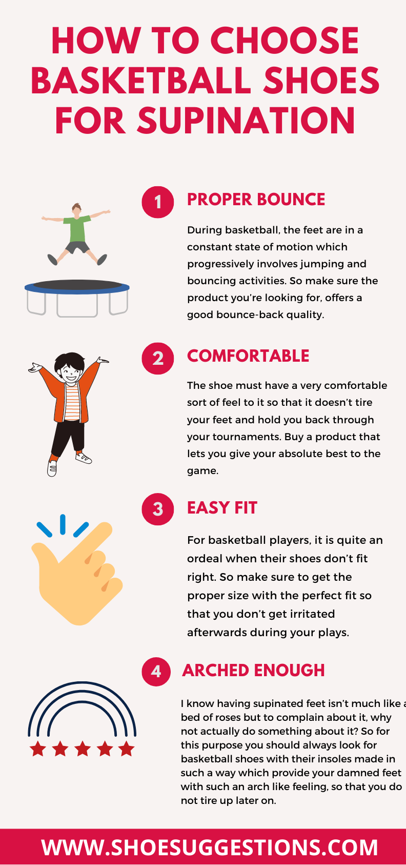 Hoe to choose basketball shoes for supination