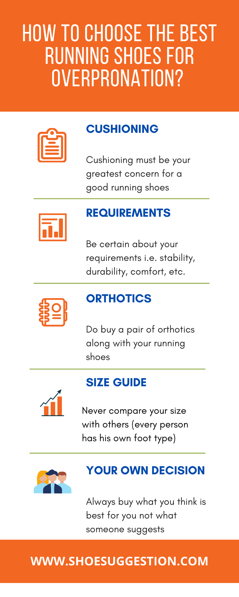 How to choose best running shoes for overpronation