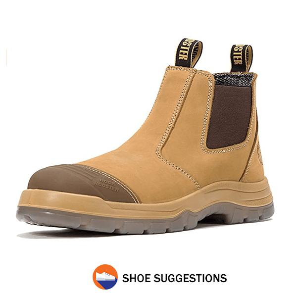 ROCKROOSTER Work Boots for Men, 6 inch Steel Toe